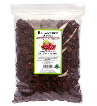 Dried Cherries, Sweetened with Apple Juice - 5lb