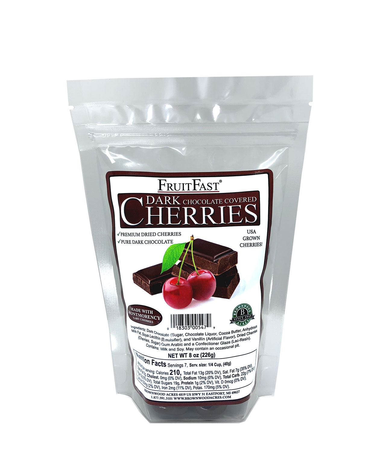 Dark Chocolate Cherries - 1/2 LB